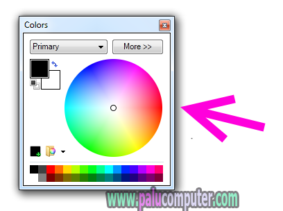 menampilkan menu colors paint.net yang hilang