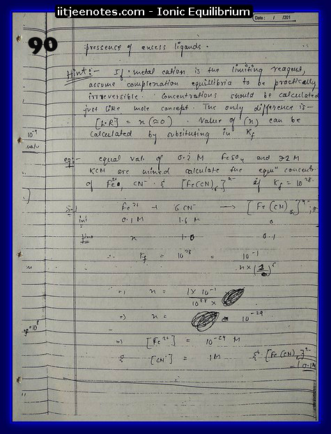 ionic equilibrium class question10
