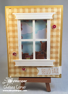 Shaker Card Fall Leaves
