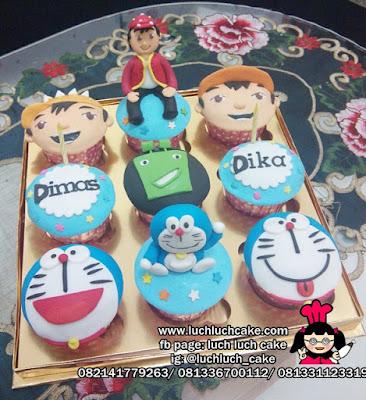 Cupcake Boboiboy dan Doraemon