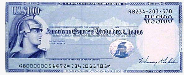 Amex Travelers Cheque Card