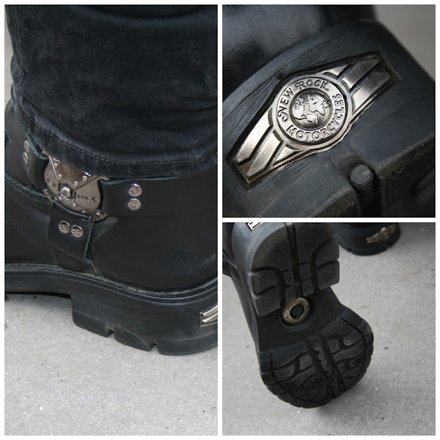 New Rock Itali Negro Biker Boots
