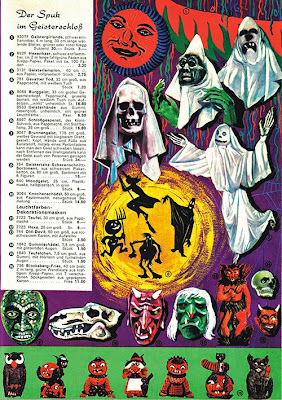 A page from a Narrenfibel catalog with a theme of monsters, spooks, and Halloween type imagery.