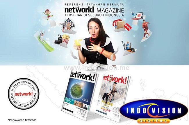 Cara berlangganan majalah Network Magazine dari Indovision.