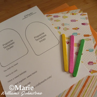 Paper craft crafting materials to make a handmade card design