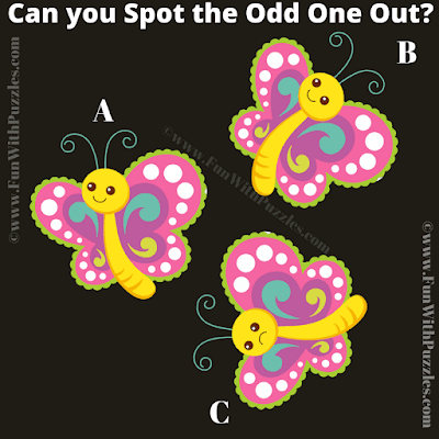 It is an easy odd one out picture riddle for kids in which your task is find which image is different from other two images