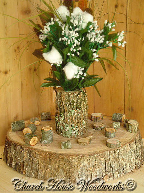 Rustic weddings wedding centerpieces tree