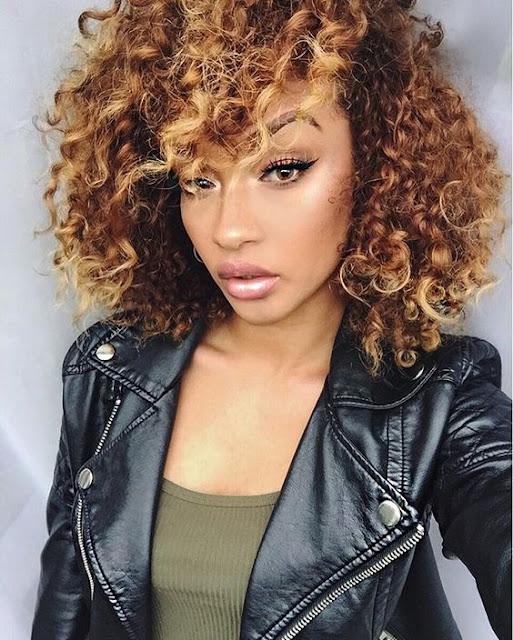 Short tousled curls