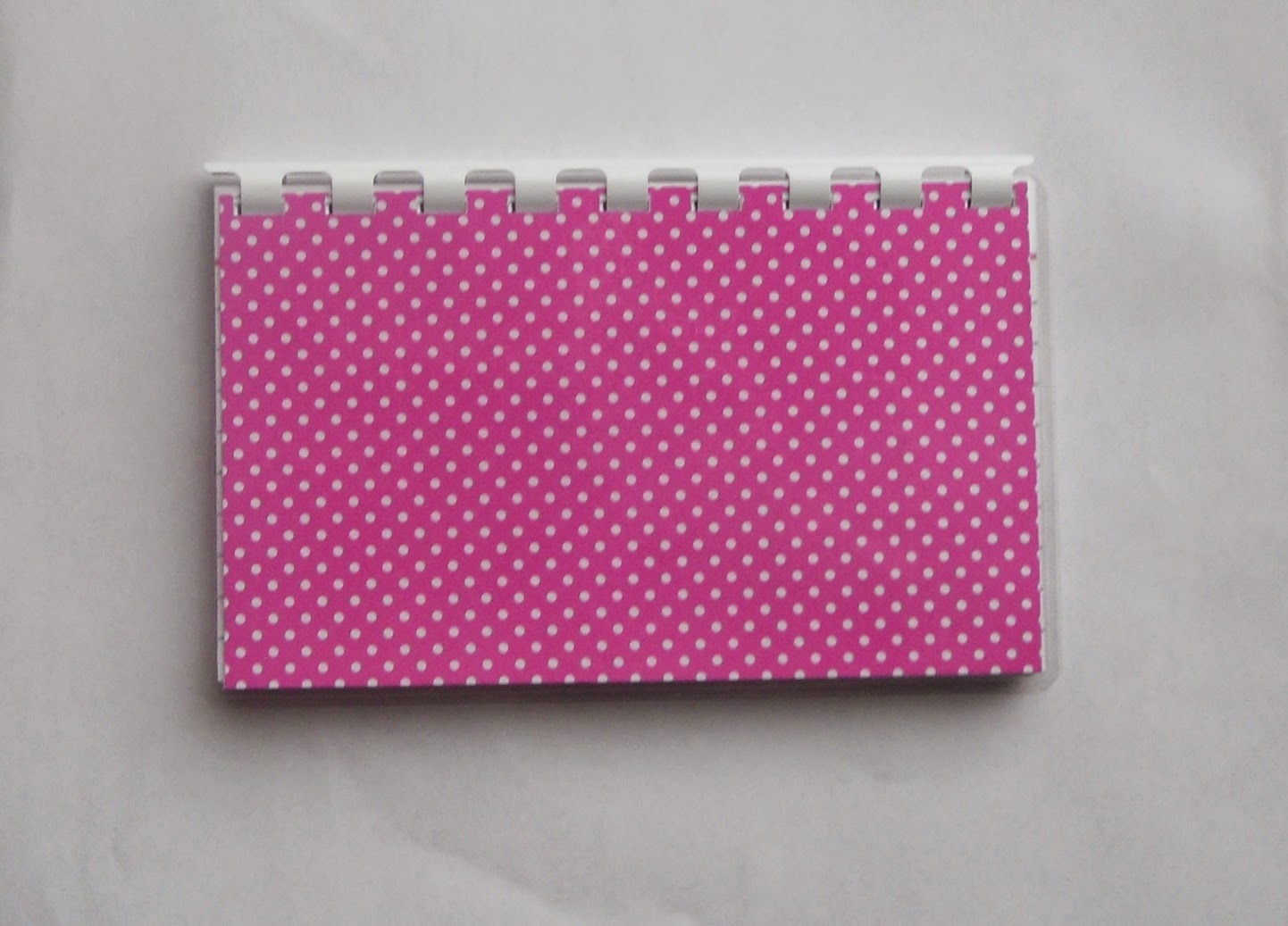 Handmade pink polka dots blank recipe book?ref=shop_home_active_1