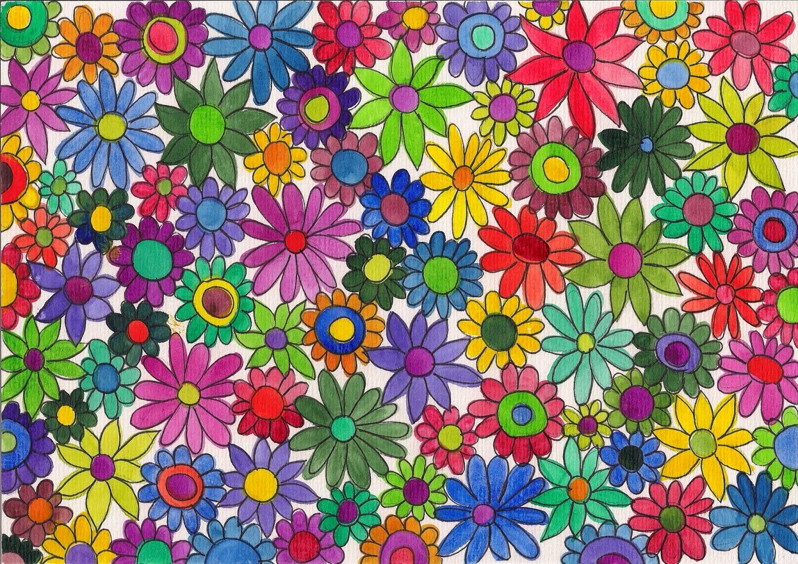 Blumenmuster Malen