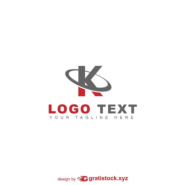 Free Download PSD Logos Of Lette K Red and Gray.
