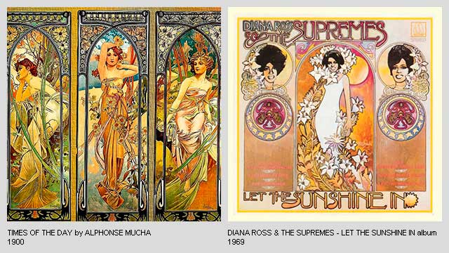 Times-of-the-Day-by-Alphonse-Mucha-Let-the-Sunshine-In-Album-by-Diana-Ross-and-the-Supremes