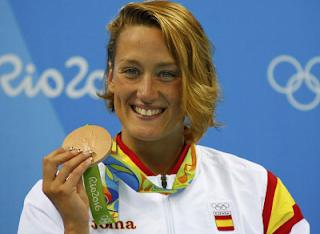 Mireia Belmonte medalla bronce 400 estilos juegos olimpicos Rio 2016