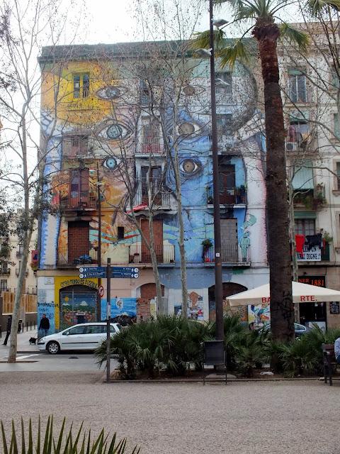 arte y murales en el Raval Barcelona