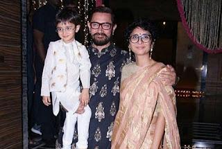 Aamir Khan came with Kiran Rao and son Azad