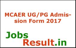 MCAER UG/PG Admission Form 2017