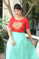 Lucky Shree Looks super cute in Bright Red Green Anarkali Dress ~  Exclusive 005.JPG