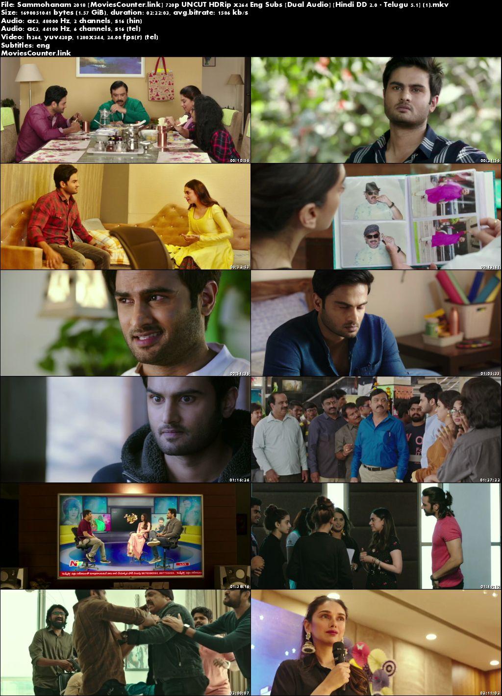 Poster Sammohanam 2018 Hindi Dubbed HD 720p