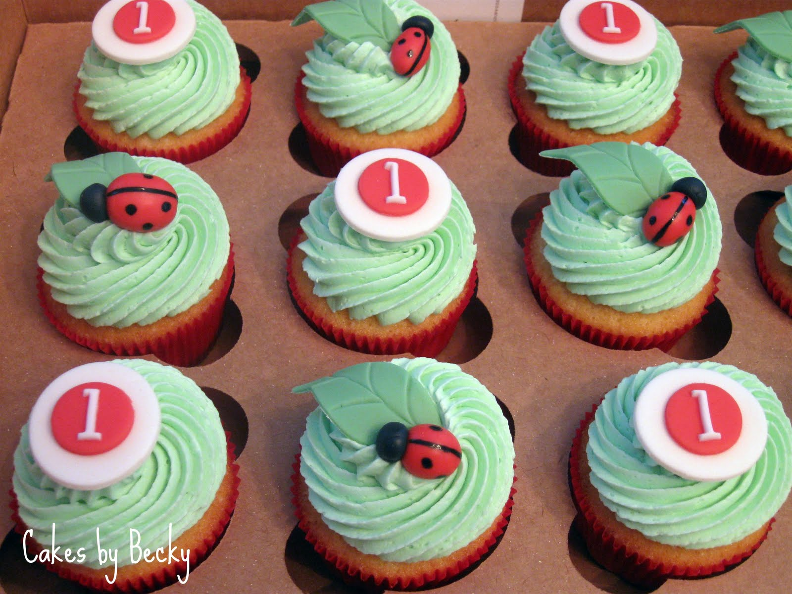 Cakes By Becky: Ladybug First Birthday