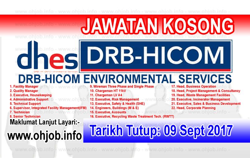 Jawatan Kerja Kosong DRB-HICOM Environmental Services logo www.ohjob.info september 2017