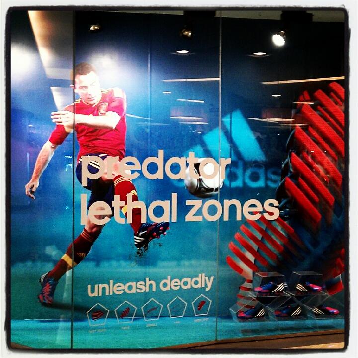 Adidas Predator Lethal Zones Window Display