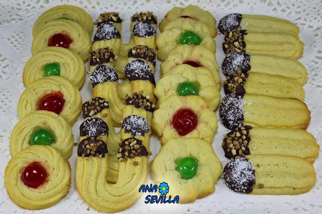 Pastas de té con boquilla Ana Sevilla Cocina tradicional