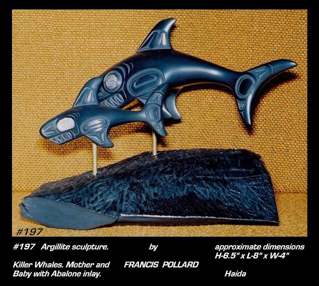 Argillite killer whales Haida Art