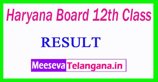 Haryana Board 12th Class Results 2019