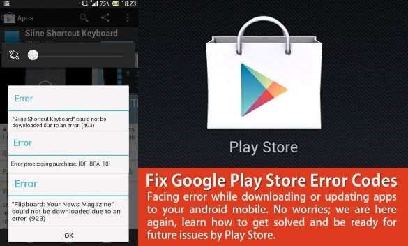 Error 103 in Google Play Store While Downloading Apps