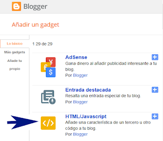 Widget de suscripciones para blogger