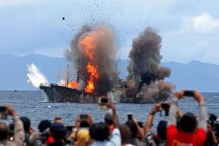 Mantap ! TNI AL Berhasil Tangkap Kapal Pencuri Ikan Buruan Interpol