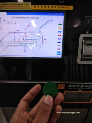 Koin Tiket Kereta Subway di Shenzhen China