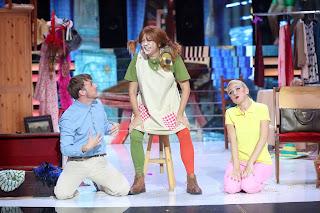 Yolanda Ramos imitando a Pippi Calzaslargas en 'Tu cara me suena'