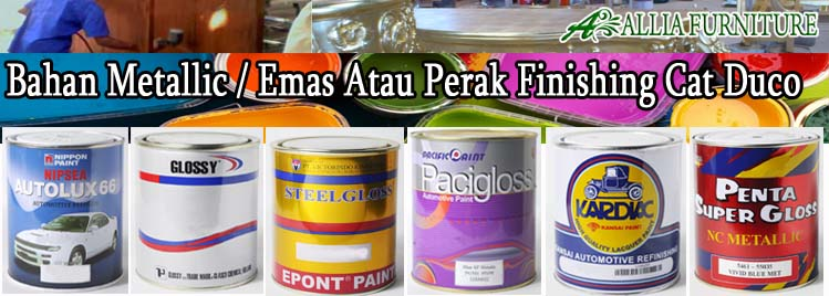 Bahan Emas & Perak Finishing Furniture Cat Duco