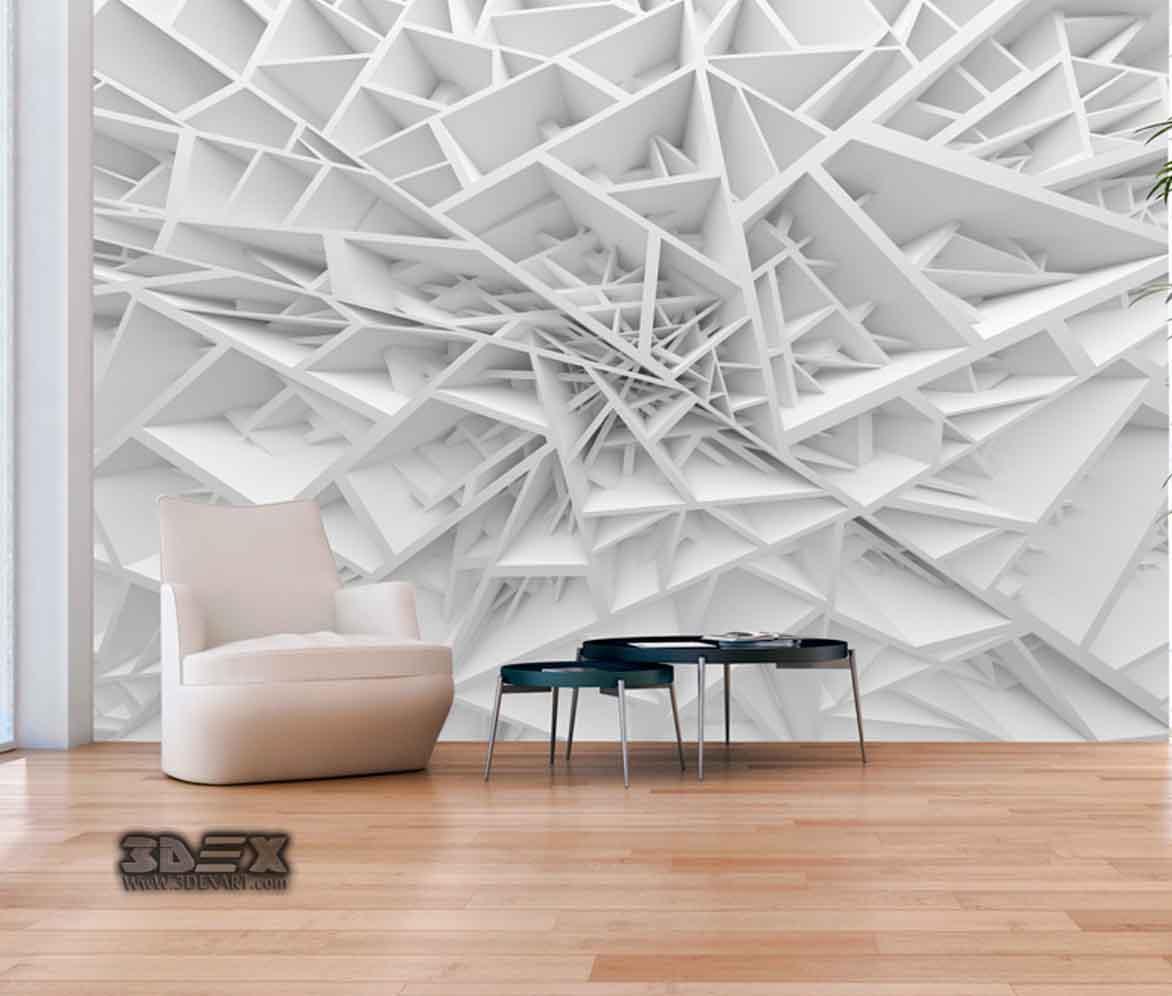 Stunning 3D Wallpaper for living room walls, 3D wall murals 2019