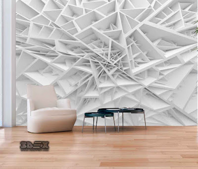 3D effect wallpaper patterns for living room walls