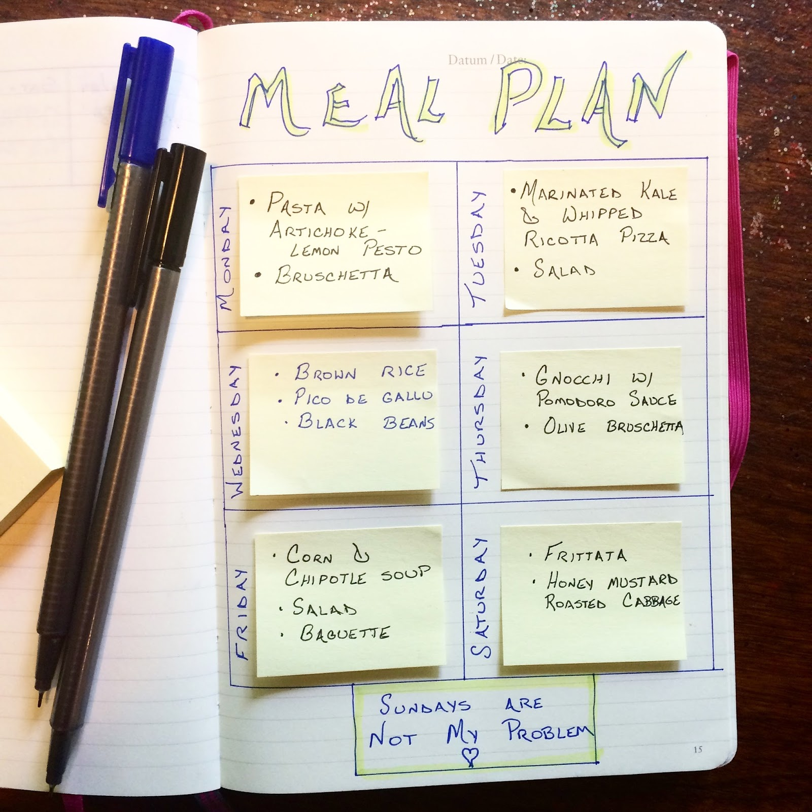 Recipes For A Postmodern Planet Meal Plan 6 20 16