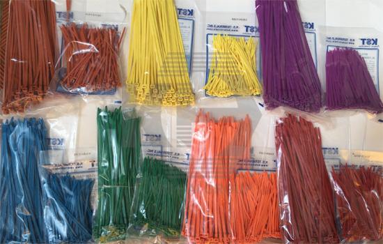 dây thít nhựa màu dùng để phân loại hàng hóa