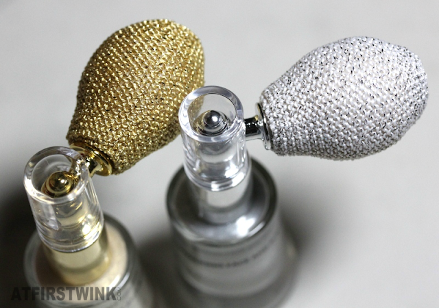 Review: HEMA shimmering face and body powder - silver and gold (puffs)