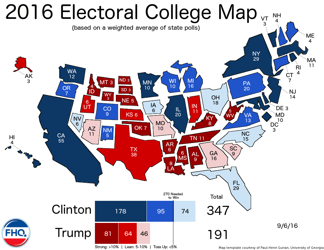 Frontloading HQ The Electoral College Map 9616