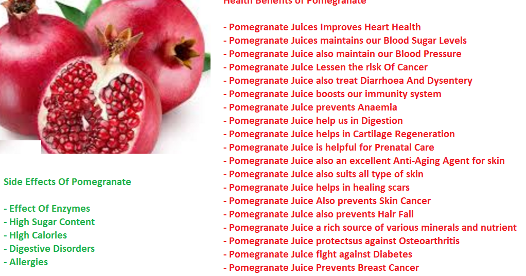 Serious Side Effect Of Pomegranate Fruit Anar Fruit