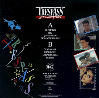 TRESPASS - STRANGE TIMES (1988)_back