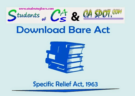 Specific Relief Act Pdf