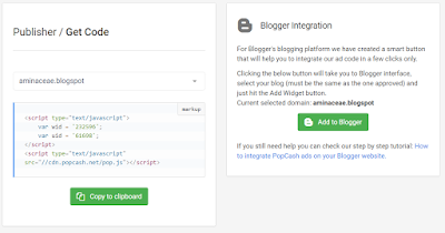 Blogspot integration di PopCash