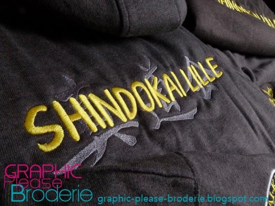 Broderie Graphic Please, marquage sur textile  Vestes à capuche ... e0081145841