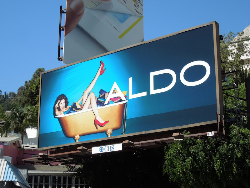 Aldo Shoes bathtub billboard