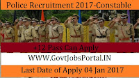 Police Recruitment 2017 for Constable Posts