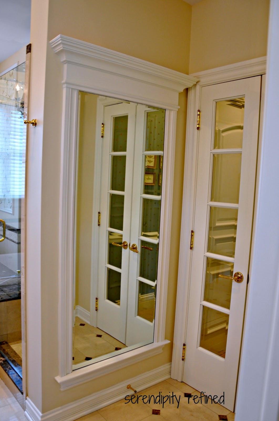 Serendipity refined blog master bathroom reveal - Full length bathroom wall mirror ...