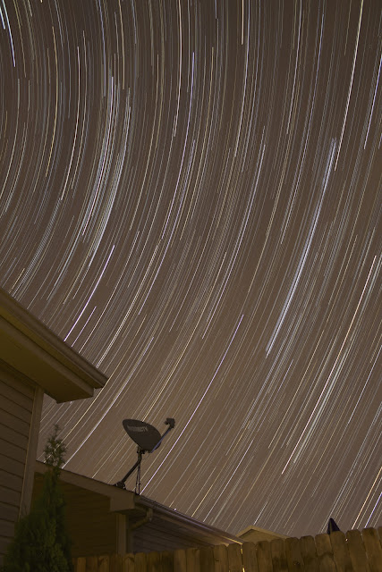 star trails natural light