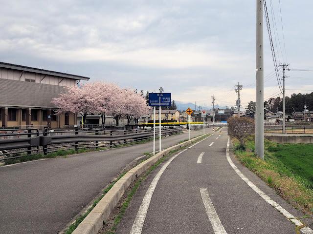 あづみ野やまびこ自転車道 堀金小学校